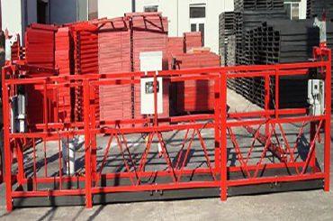 stavební úklid zavěšená pracovní plošina zlp800 s jmenovitým zatížením 800 kg