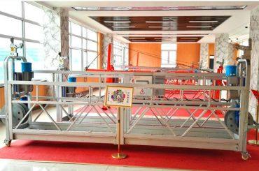 ZP630 hliníková zavěšená plošina / zařízení pro čištění oken s vysokým stoupáním / dočasná gondola / kolébka / houpačka je horká