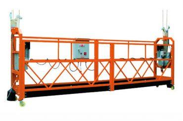 2.5M x 3 sekce 1000kg Závěsná přístupová plošina Rychlost zvedání 8-10 m / min
