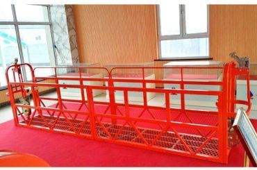 ocelové zavěšené přístupové plošiny 7.5m 1.8kw 800kg údržba budov