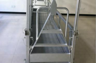 zavěšená pracovní plošina / zavěšená ocelová plošina