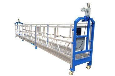 bezpečnostní lano / kabelová ocelová závěsná pracovní platforma zlp800 s výtahem ltd8.0