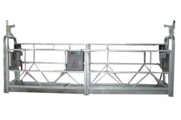žárově pozinkovaná zavěšená pracovní plošina zlp630 pro vysokou stavební konstrukci