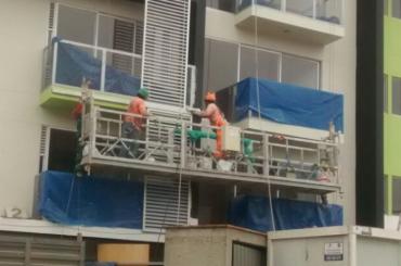 stavební údržba lanové závěsné plošiny s výtahem ltd8.0 zlp800